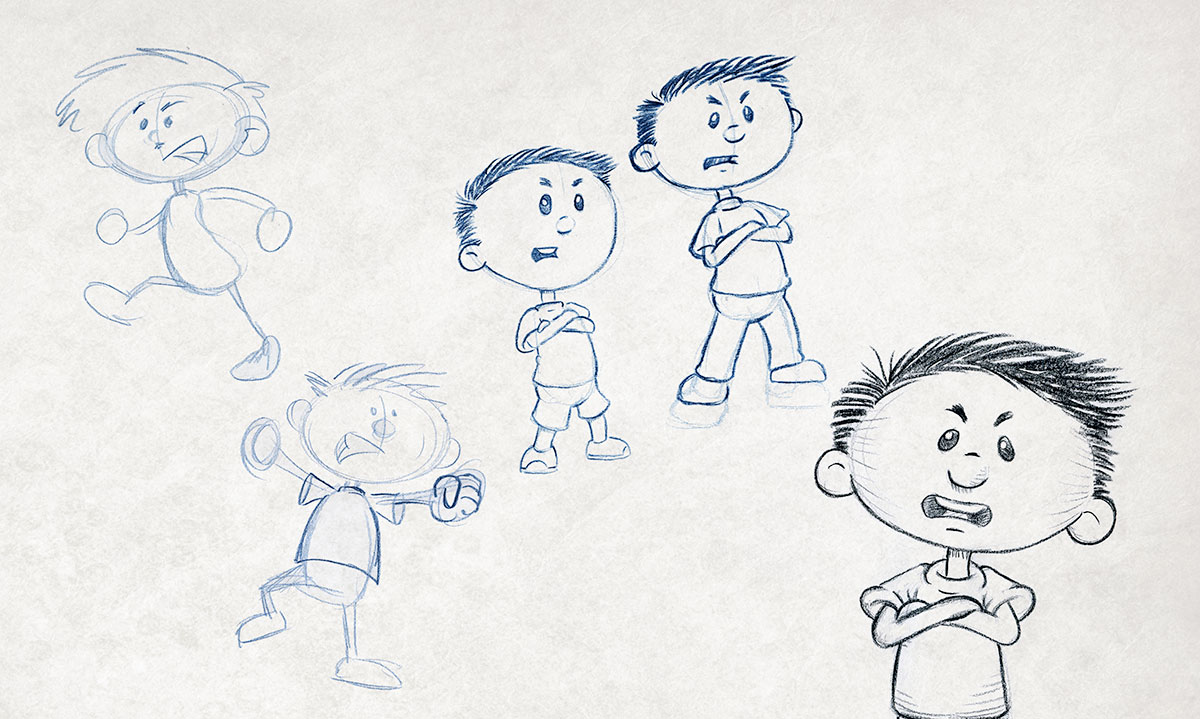 "The evolution of Max from author/illustrator Timothy Young's ""I Hate Picture Books!"""