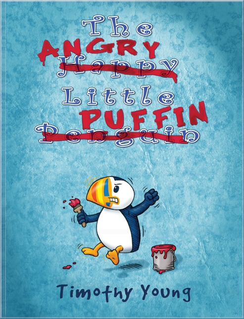 The cover of author/illustrator Timothy Young's book The Angry Little Puffin