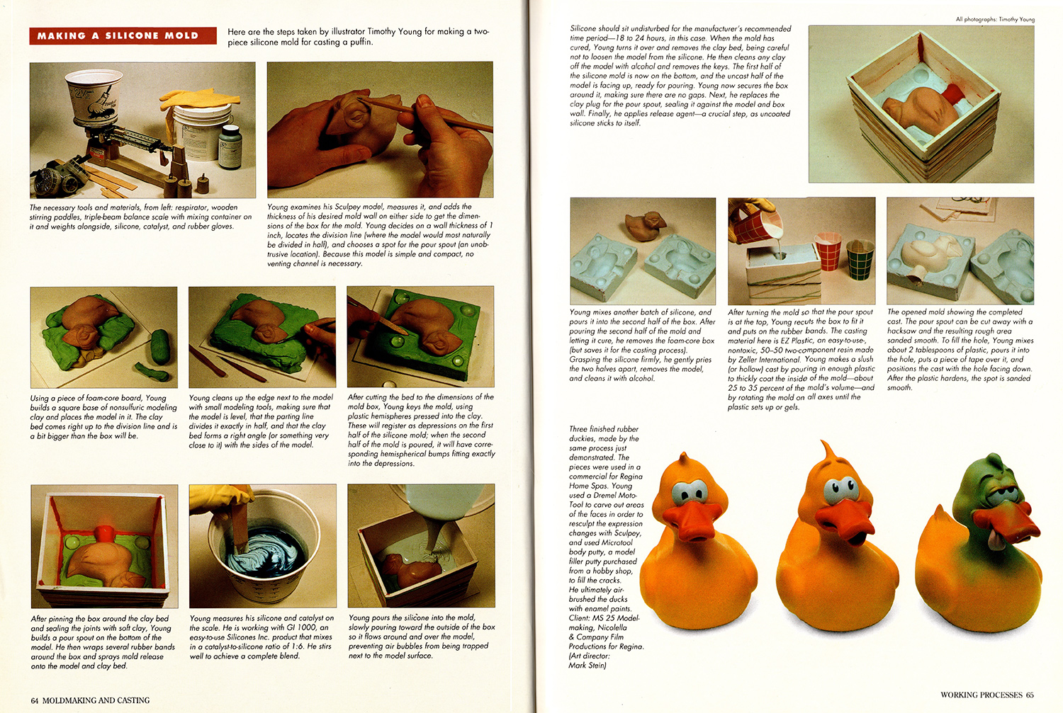 a spread from Ellen Rixford's book 3-Dimensional Illustration