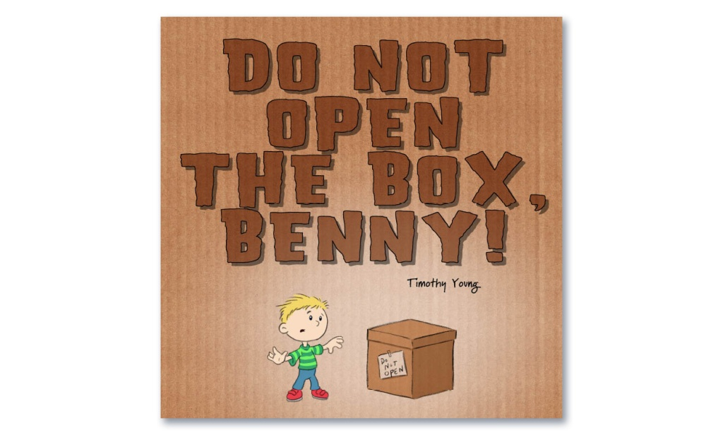"The original cover sketch from author/illustrator Timothy Young's ""Do Not Open The Box"""